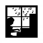 ピアニストシルエット