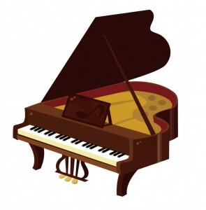 ブラウンピアノさし絵